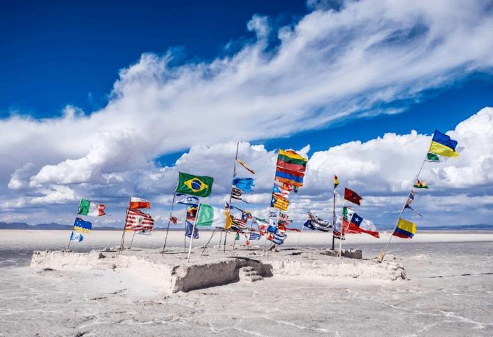 ¡Personas de diferentes partes del mundo visitan este hermoso lugar!