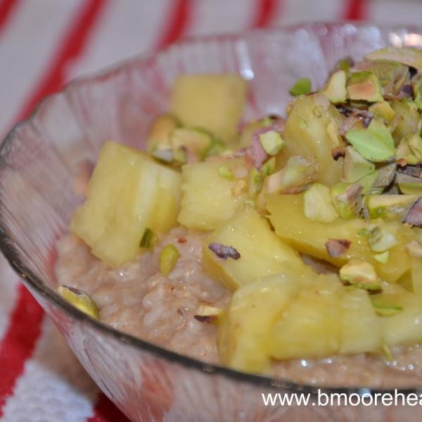Leftover pineapple = random, yet yummy, dish.
