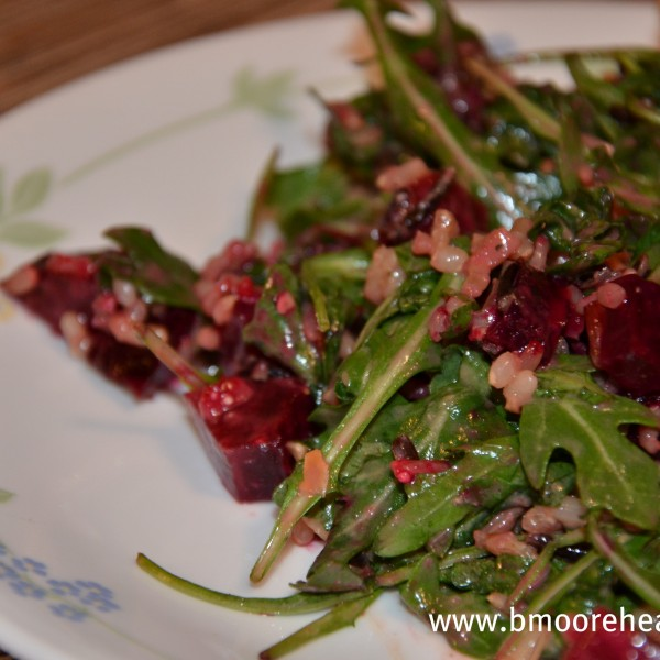 Arugula, Beet & Rice Salad. Give it some love.