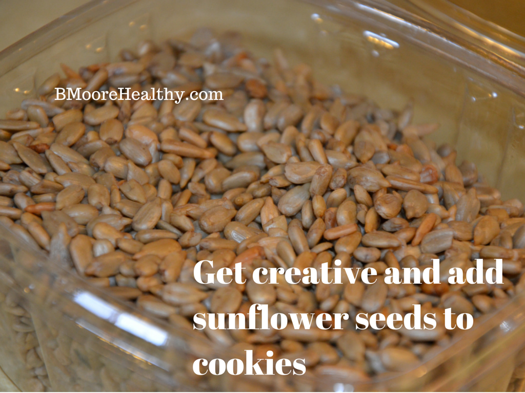 Get creative and add sunflower seeds to