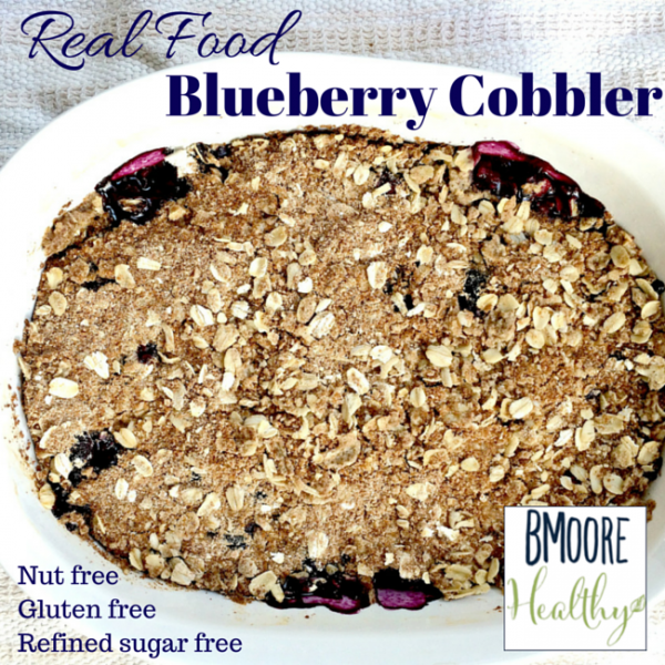 Really good mama day and blueberry cobbler