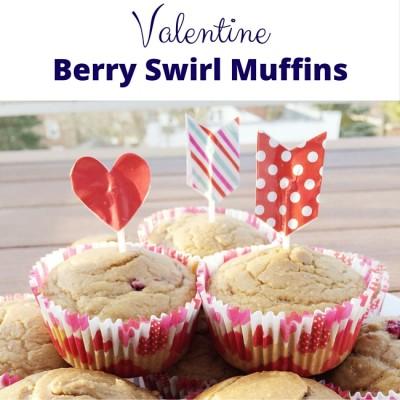 Valentine Berry Swirl Muffins