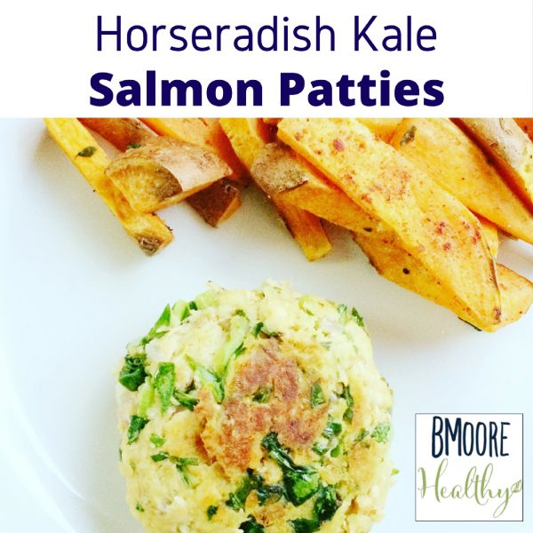 Horseradish Kale Salmon Patties