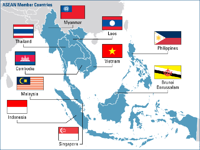 aesean country map