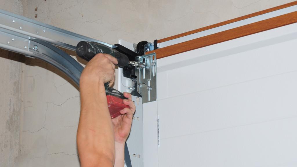 garage door repairs being made
