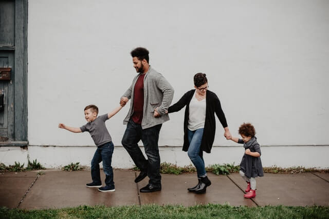 Family walking, reasons to avoid probate court