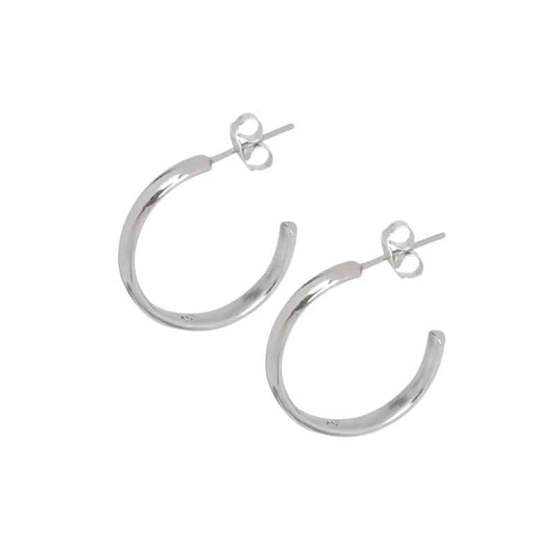 Curves White Gold Hoops 1