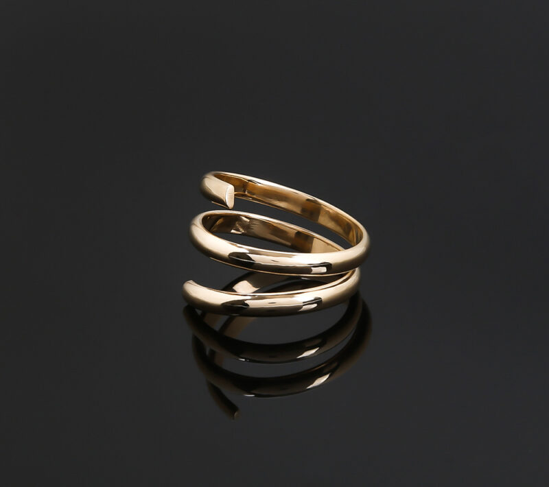 Gold Pirouette ring
