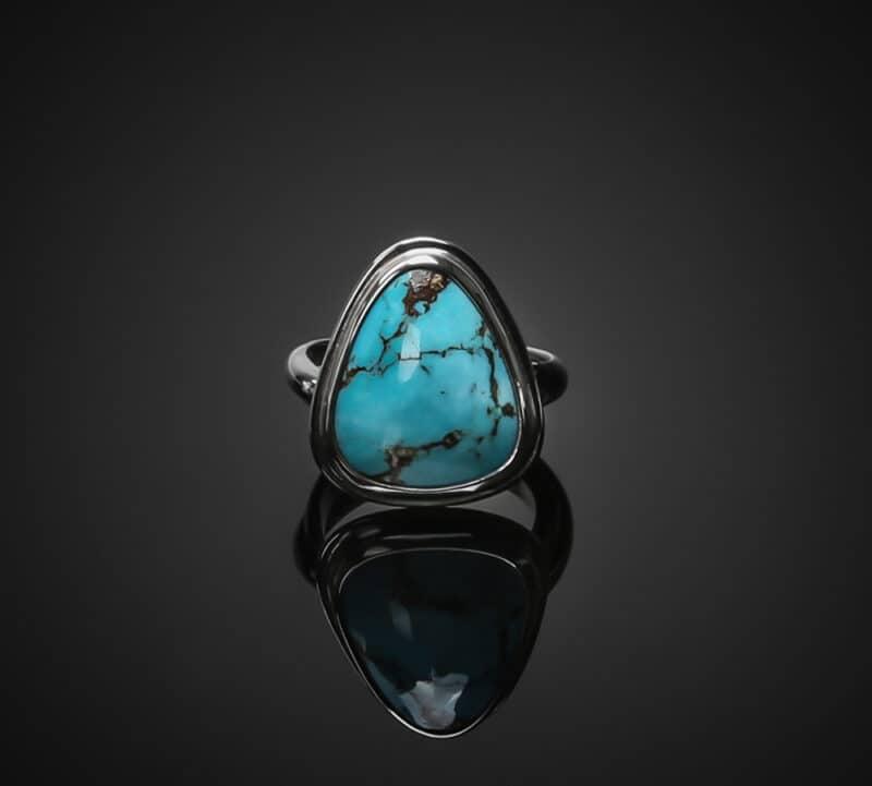 kingman turquoise silver ring