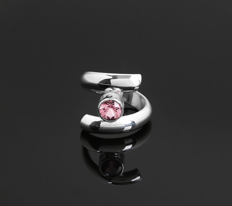 pink tourmaline alternative engagement ring
