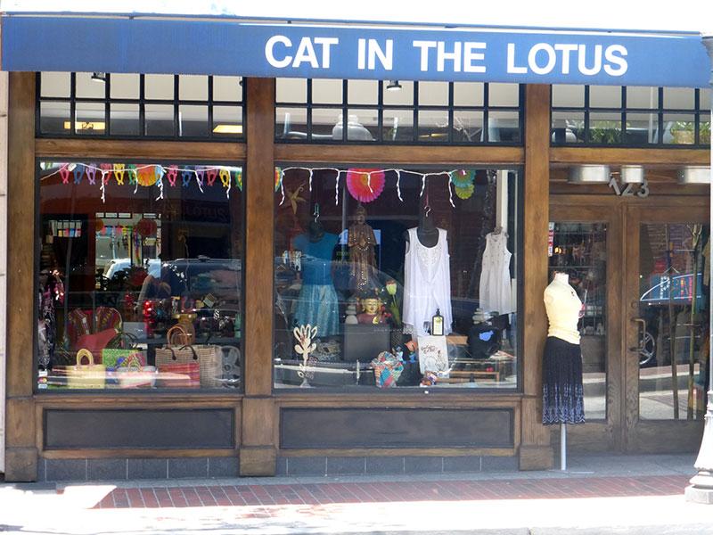 Cat in the Lotus