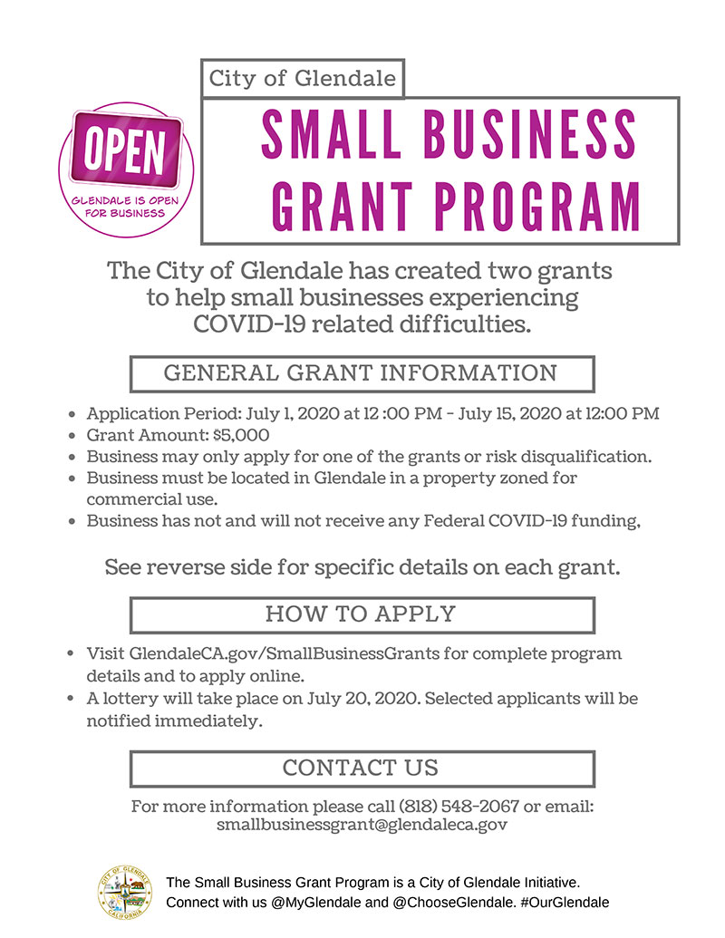 City of Glendale Small Business Grant Program