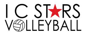 IC Stars Volleyball Logo
