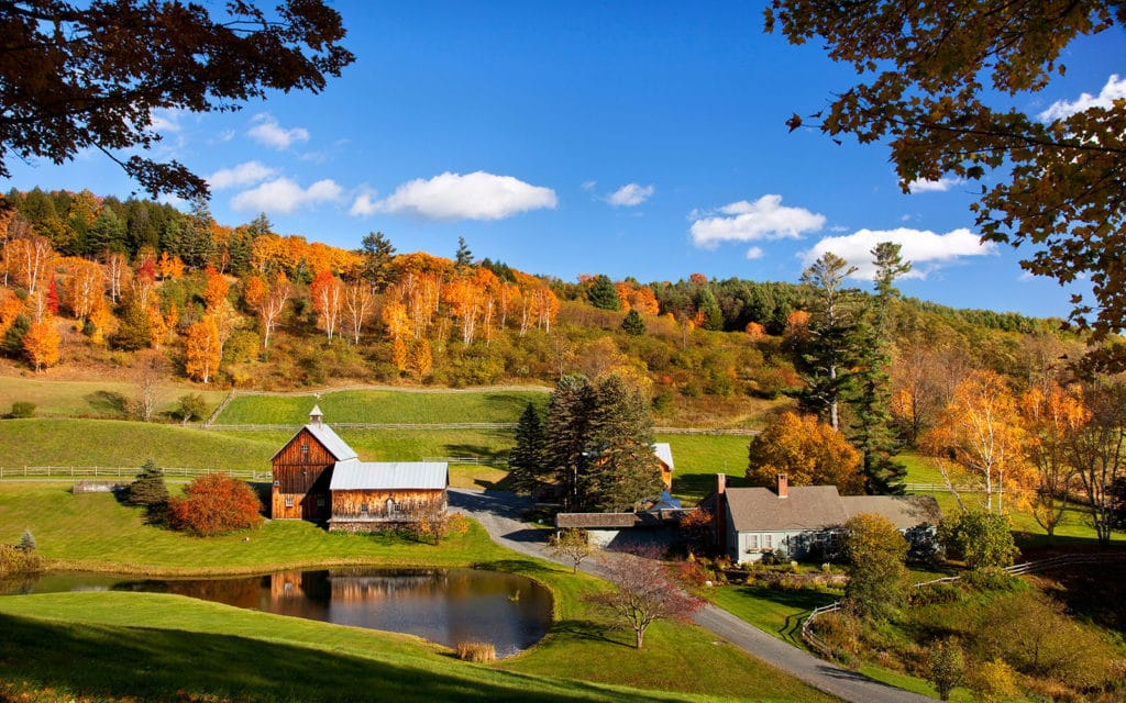 Autumn at Sleepy Hollow Farm, Woodstock, Vermont, USA