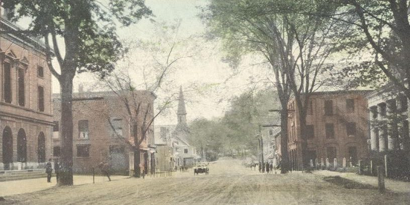 Windsor VT old postcard 1910