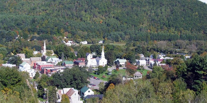 South Royalton Vt aerial view