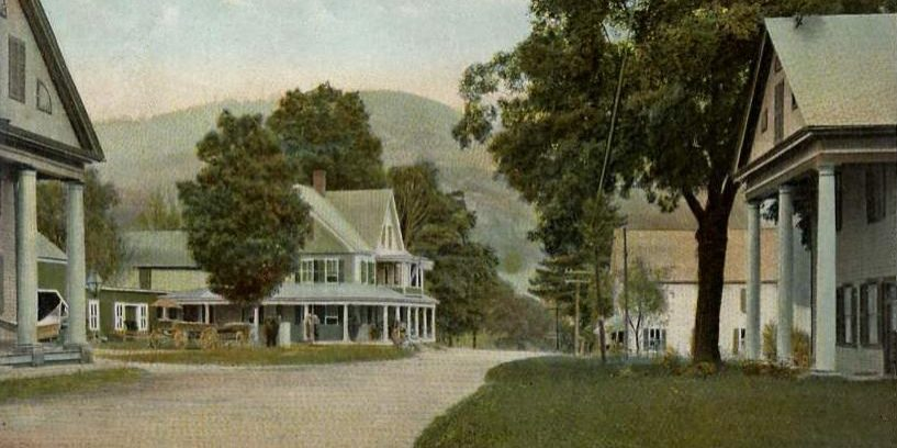 Sharon VT old post card street scene