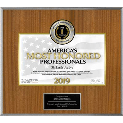 America's Most Honored Professionals 2019
