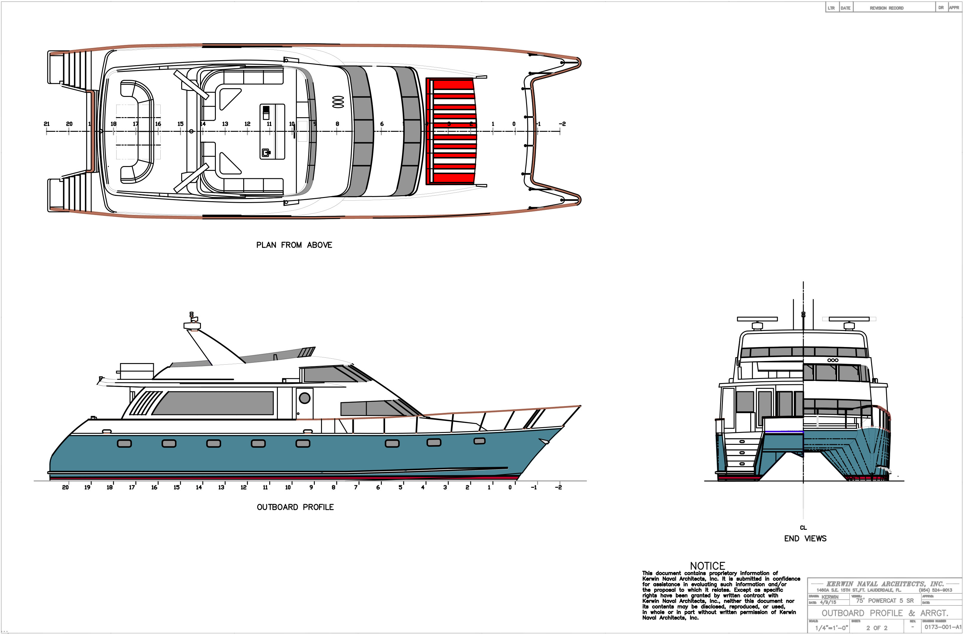 Another Style of 25 knot 5 Stateroom Catamaran