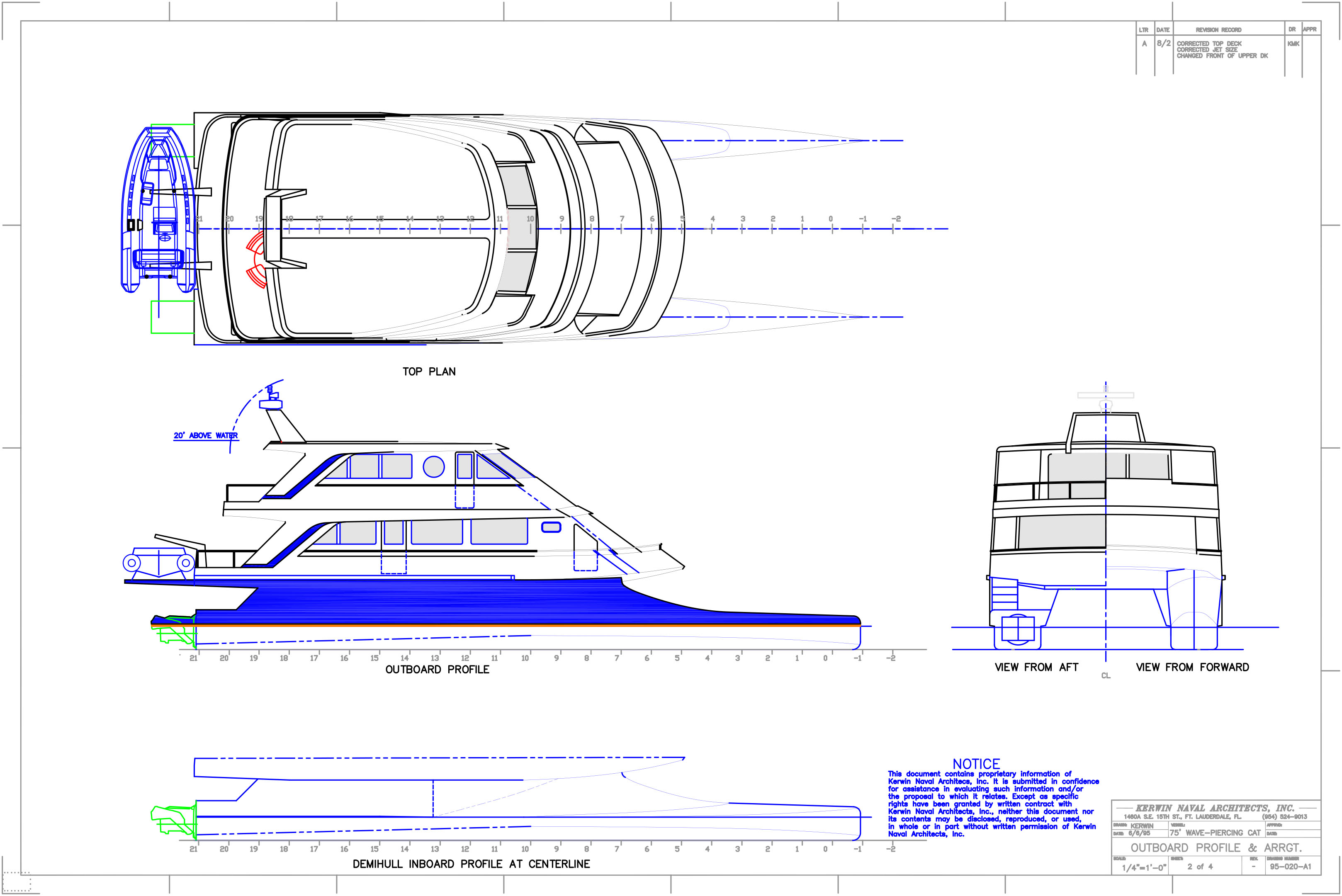 3 stateroom high-speed wavepiercing catamaran