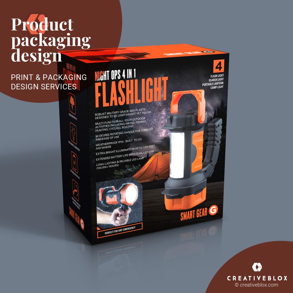 SmartGearLamp Packaging Design