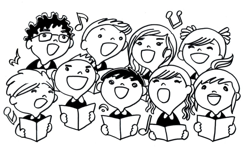 Cartoon choir