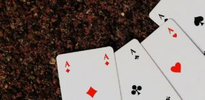 Four aces - playing cards