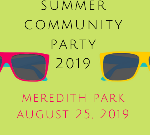 Summer Community Party 2019