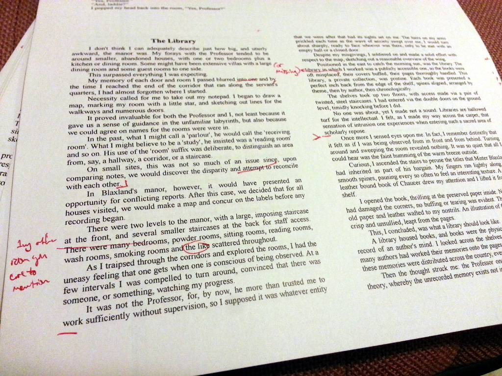 About that Red Pen…
