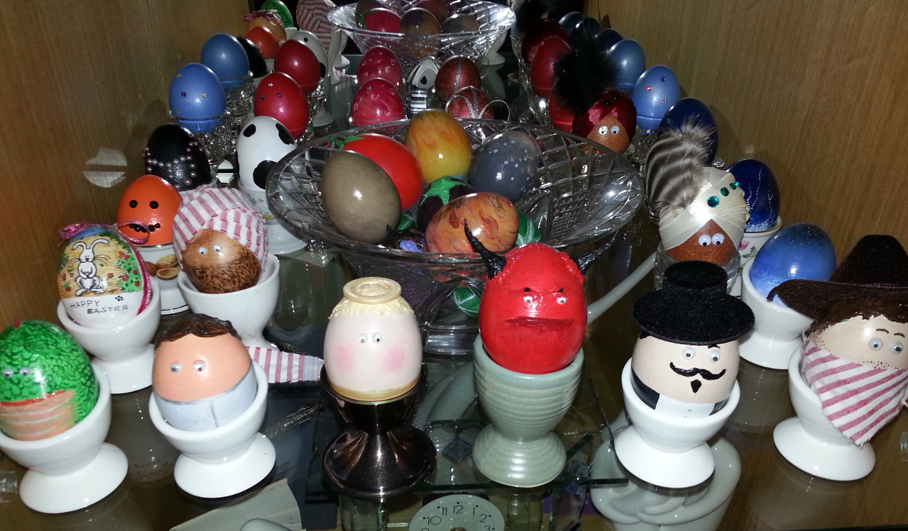 Painting Eggs for Easter