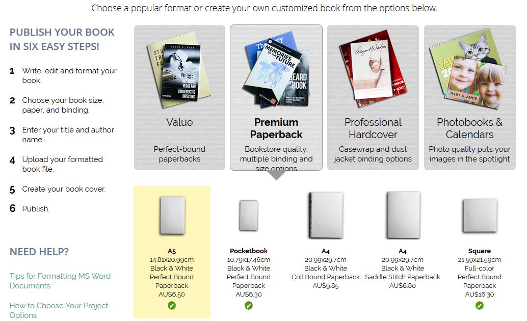 eBook to Hardcopy – Lulu