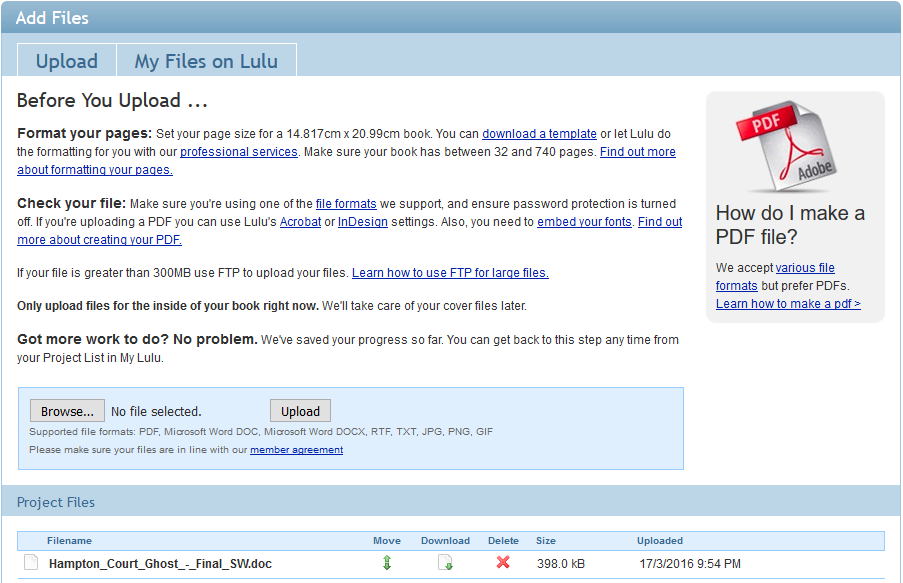 Lulu – Uploading!