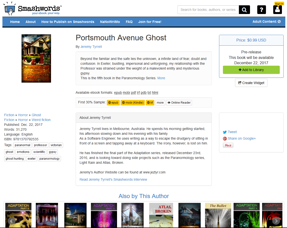 Portsmouth Avenue up on Pre-release