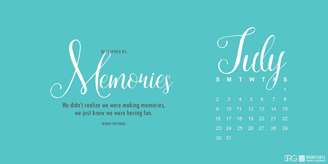 July 2017 Electronic Calendar
