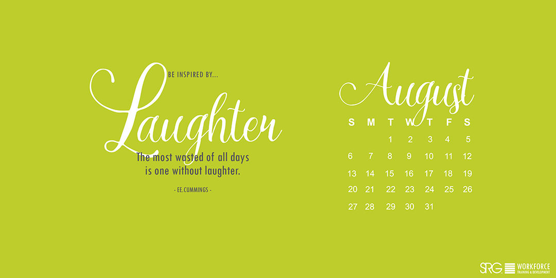 August 2017 Electronic Calendar