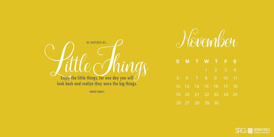 November 2017 Electronic Calendar