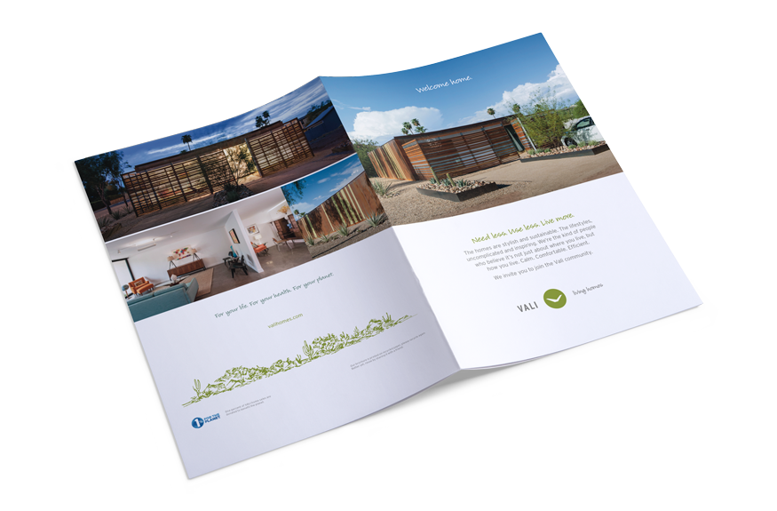 vali homes visual identity - brouchure
