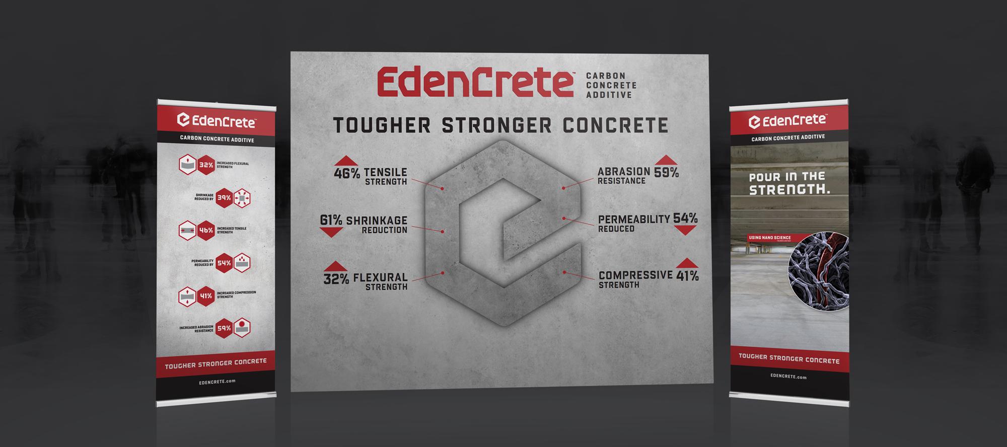 edencrete branding - show booth