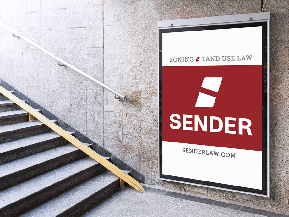 sender rebrand zoning sign