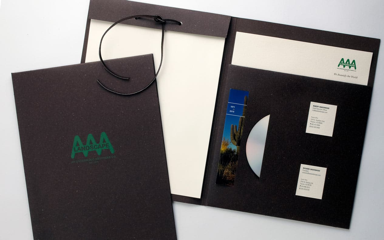 aaa landscape folder design