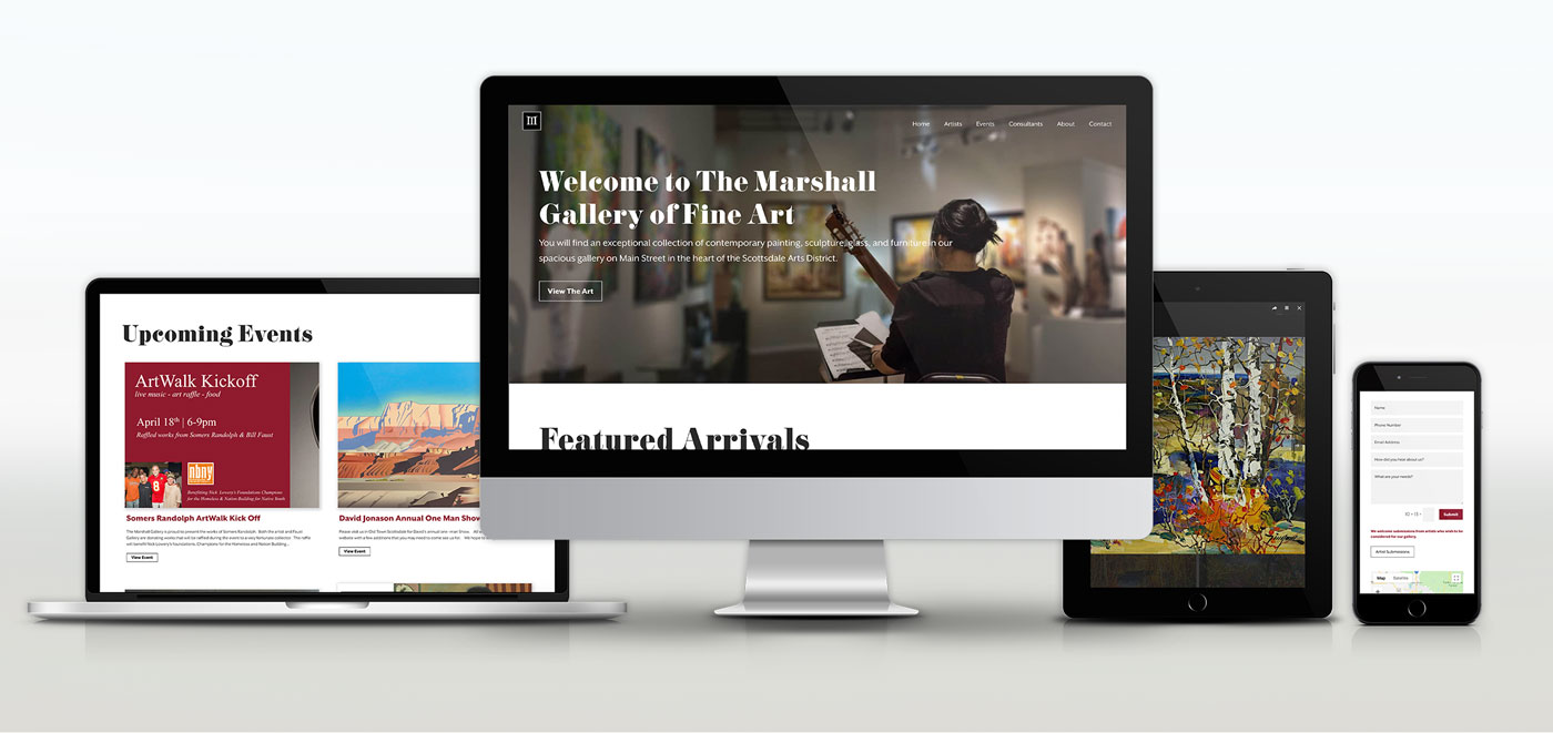 Marshall-Website-mockup