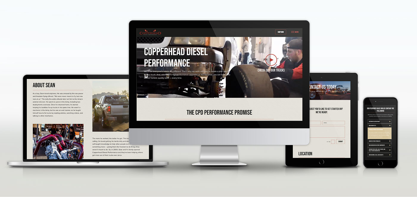 copperhead-diesel website redesign