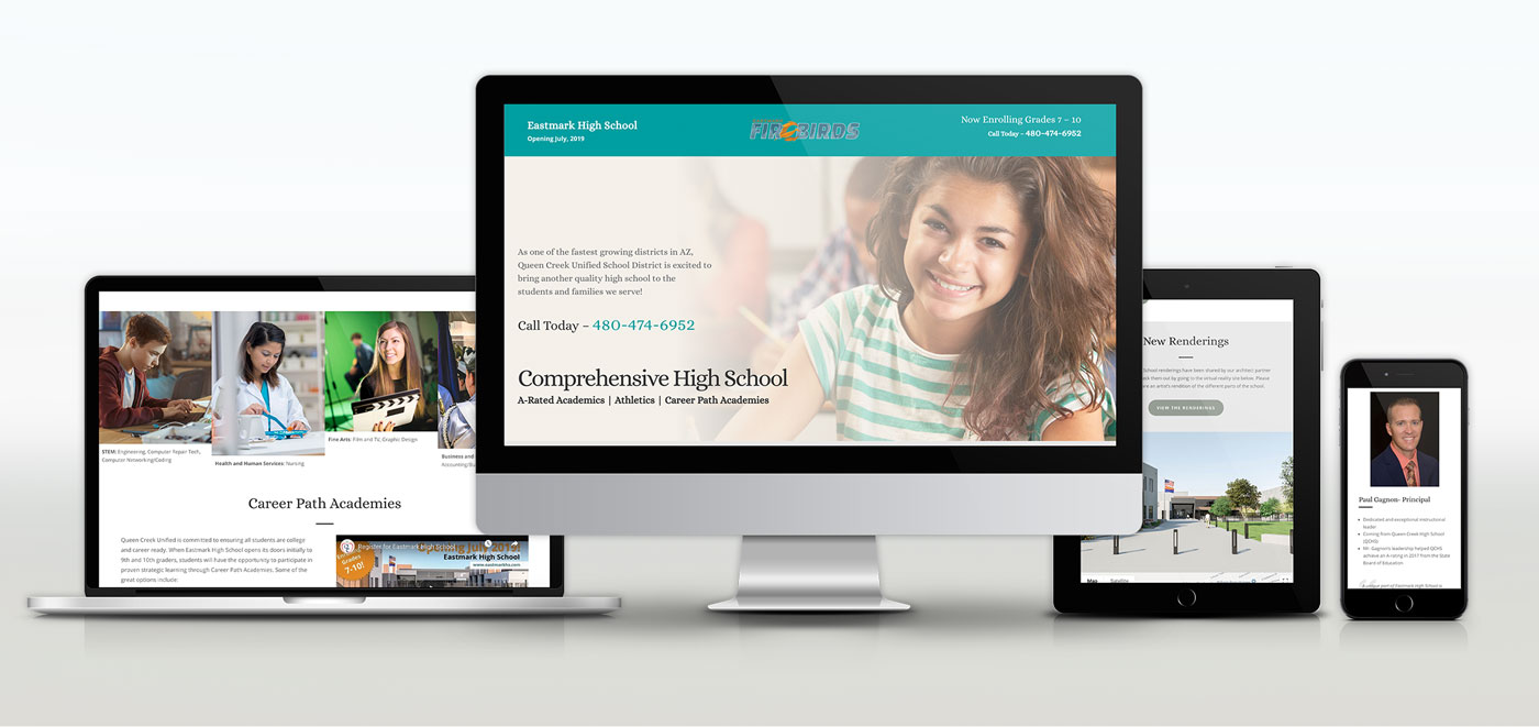 queen creek school district web design