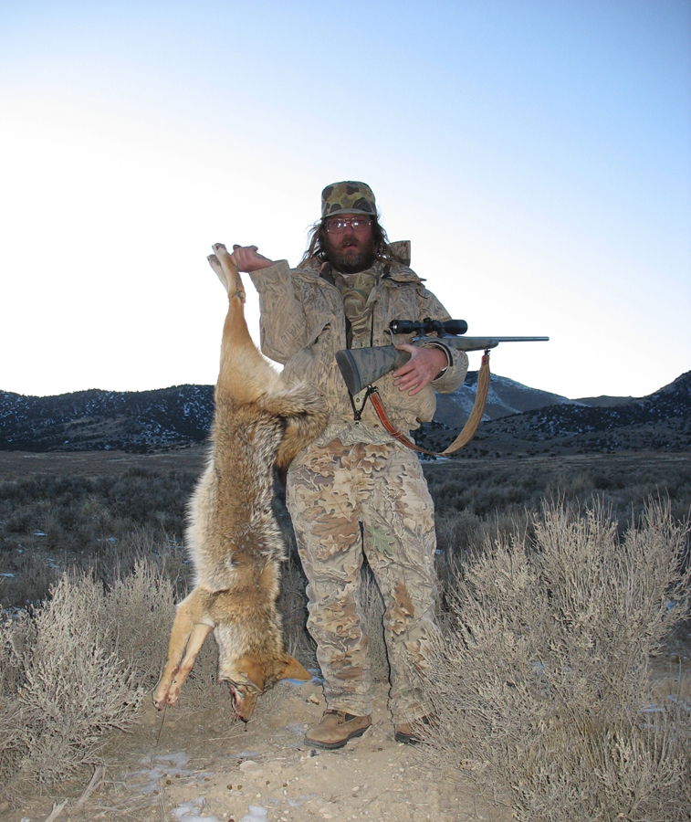 Tim with coyote taken using 38 gr. Unmussig