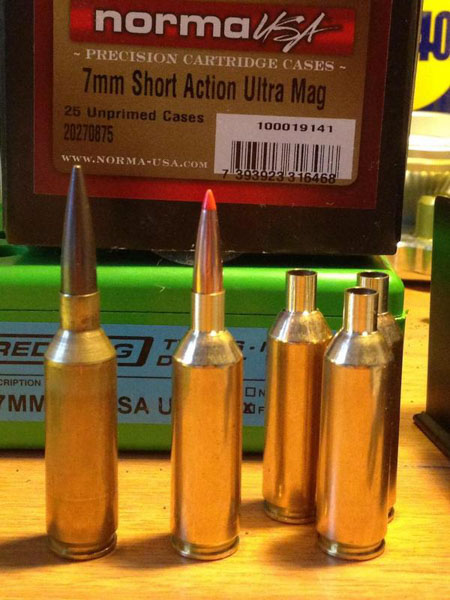 .220 Redline with 80 Amax next to 6.5 SAUM with 140 JLK