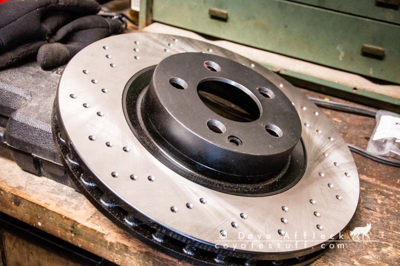 Modified 2007 Mercedes S550 rotors