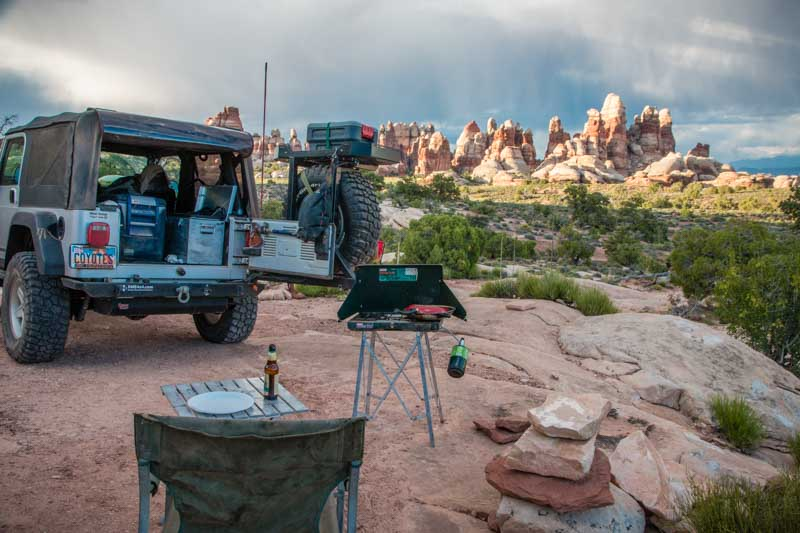 Simple camp, incredible scenery