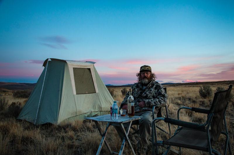 Tim in coyote camp