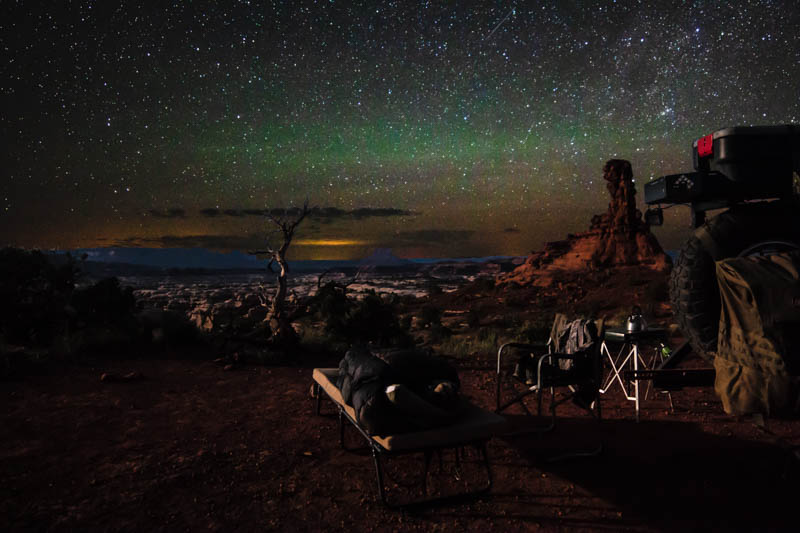 Cot camp under the stars