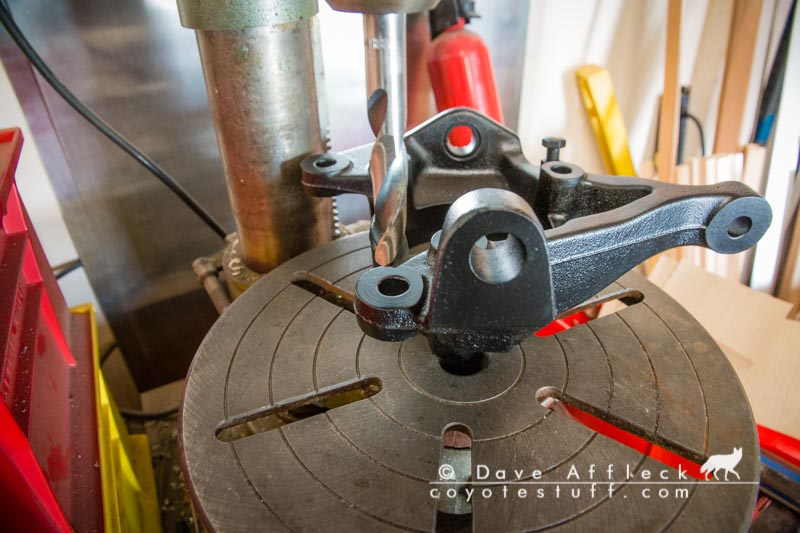 Drilling caliper bracket holes to 14mm